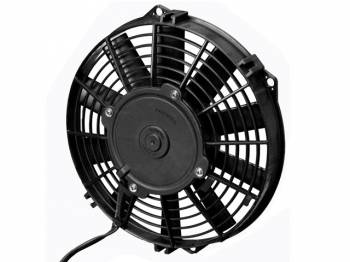 "SPAL Advanced Technologies - SPAL 9"" Straight Blade Low Profile Fan, 12V Puller - 590 CFM"