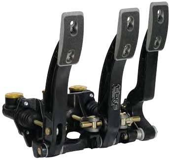Tilton Engineering - Tilton Floor Mount Aluminum Triple Pedal Assembly - Triple Master Cylinder (Not Included)