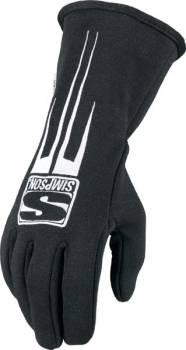 Simpson Predator Auto Racing Gloves - Black - 20800K