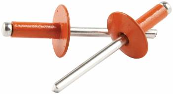 "Allstar Performance - Allstar Performance 3/16"" Large Head Aluminum Rivets - Orange - 1/4"" to 3/8"" Grip Range - (250 Pack)"