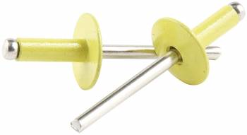 "Allstar Performance - Allstar Performance 3/16"" Large Head Aluminum Rivets - Yellow - 1/4"" to 3/8"" Grip Range - (250 Pack)"