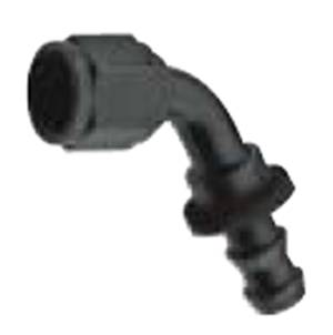 Fragola Performance Systems - Fragola Series 8000 Push-Lite 60° Race Hose End - Black -12 AN