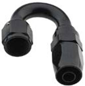 Fragola Performance Systems - Fragola Series 2000 Pro-Flow 180° Hose End - Black -06 AN