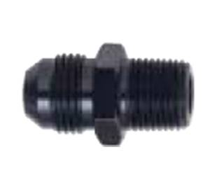 "Fragola Performance Systems - Fragola Aluminum AN to NPT Straight Adapter - Black -04 AN to 1/8"" NPT"
