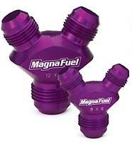 MagnaFuel MP-6208-10AN Male and 8AN Y-Fitting
