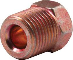 "Allstar Performance - Allstar Performance 3/16"" Inverted Flare Nuts - 7/16""-24"" Red"