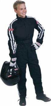 Simpson STD.Y4 Youth Basic Driving Suit - 2 Layer - Black Y402