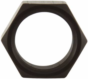 "Allstar Performance 5/8""-18 Thin O.D. Aluminum Jam Nut - Black"