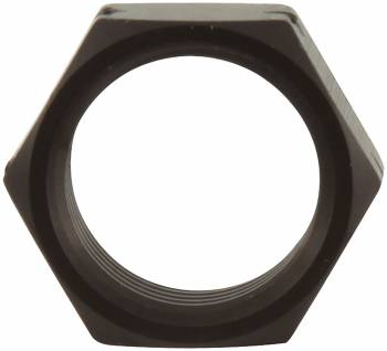"Allstar Performance 5/8"" LH Aluminum Jam Nut - 3/4"" Wrench Size - Black"