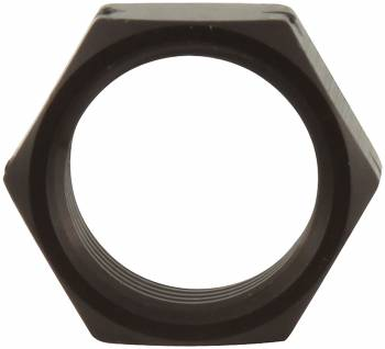 "Allstar Performance 5/8"" LH Black Aluminum Jam Nut 10 Pack"