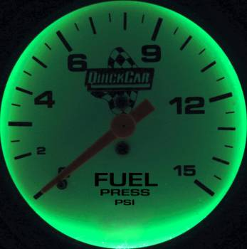 QuickCar Extreme Fuel Pressure Gauge w/ Built-In LED Warning Light