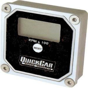 QuickCar QuickTach Digital LCD Recall Tachometer - Black