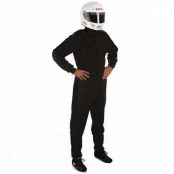 RaceQuip - RaceQuip 110 Series Pyrovatex Racing Suit - Black - X-Large