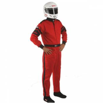RaceQuip - RaceQuip 110 Series Pyrovatex Racing Suit - Red - Large