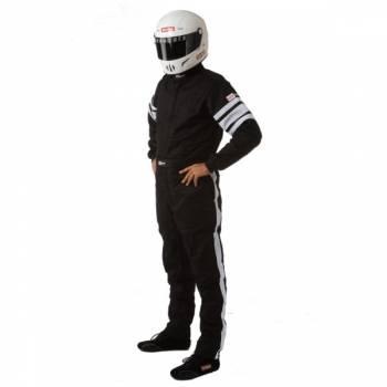 RaceQuip - RaceQuip 120 Series Pyrovatex Racing Suit - Black - Medium