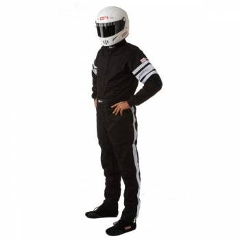 RaceQuip - RaceQuip 120 Series Pyrovatex Racing Suit - Black - X-Large
