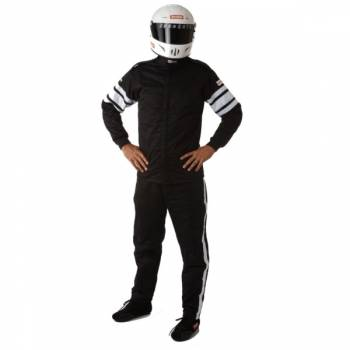 RaceQuip - RaceQuip 120 Series Pyrovatex Racing Jacket (Only) - Black - Large