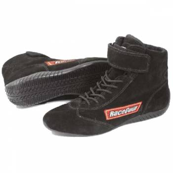 RaceQuip Mid-Top Racing Shoes - Black - Size 7