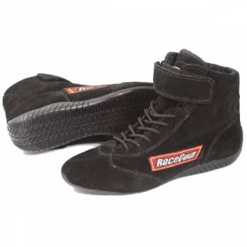 RaceQuip Mid-Top Racing Shoes - Black - Size 8