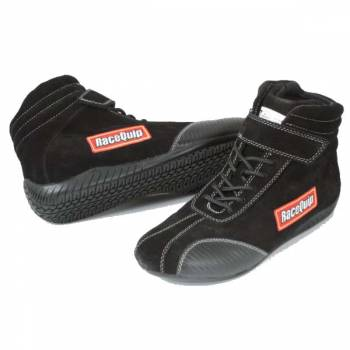 RaceQuip Euro Ankletop Racing Shoes - Black - Size 8.0