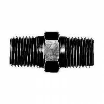 """Aeroquip - Aeroquip Black Aluminum 1/4"""" NPT Male Pipe Coupler"""