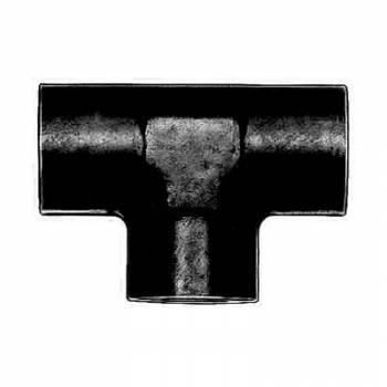 """Aeroquip - Aeroquip Black Aluminum 3/8"""" NPT Female Pipe Tee Adapter"""