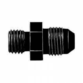 Aeroquip - Aeroquip Black -6AN Male To 12mm X 1.5 Adapter Straight Aluminum Fitting - Blue Anodized