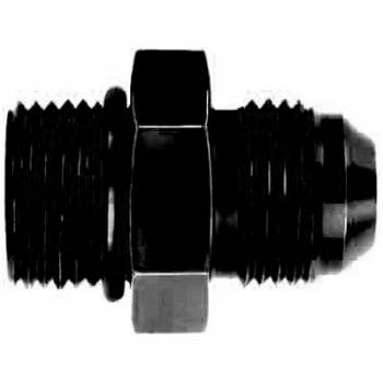 Aeroquip - Aeroquip Black Aluminum -12 AN O-Ring Boss to -12 Male AN Adapter