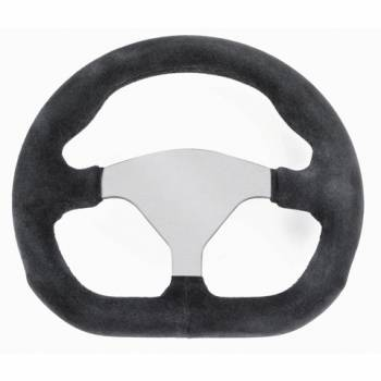 "Grant D-Shaped Suede Steering Wheel - 10"" Diameter - Black 713-4"
