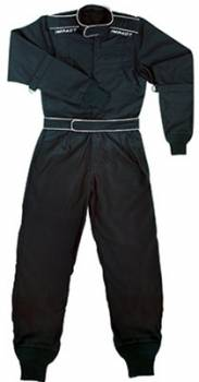 Impact - Impact Quarter Midget/Junior Drag Firesuit - Black - Youth Large