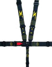 Impact - Impact NASCAR/Stock Car Latch & Link 6 Point Restraint System - Individual Shoulder Harness / Pull Down Adjust