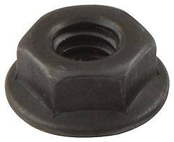 Allstar Performance - Allstar Performance Black Spin Lock Nuts - (10 Pack)