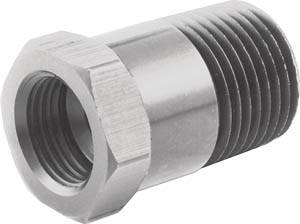 "QuickCar Racing Products - Quickcar Temp Adapter Long 3/8""NPT"