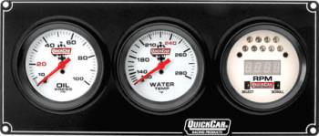 QuickCar Racing Products - Quickcar Extreme 2-1 Gauge Panel