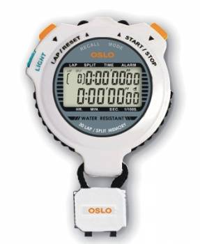 Robic - Robic OSLO Silver 60 Dual Memory Stopwatch w/ EL Blacklight
