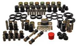 Energy Suspension - Energy Suspension Hyper-Flex Bushing Master Set - Polyurethane - Black - 64-72 GM Vehicles