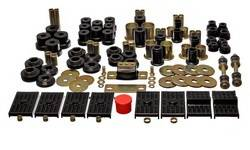 Energy Suspension - Energy Suspension Hyper-Flex Bushing Master Set - Polyurethane - Black - Chevy, Pontiac, Nova, Firebird