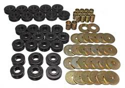 Energy Suspension - Energy Suspension Body Mount Bushing Set - Polyurethane - Black - 65-67 Chevy, Chevelle, El Camino, Malibu