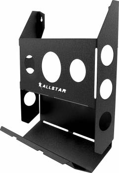 Allstar Performance - Allstar Performance Single Magazine Rack w/ Toilet Paper Holder - Black