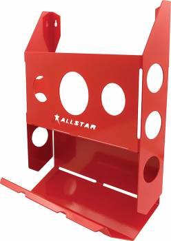 Allstar Performance - Allstar Performance Single Magazine Rack w/ Toilet Paper Holder - Red
