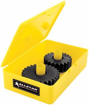 Allstar Performance - Allstar Performance Yellow Quick Change Gear Tote - 6 Spline Midget Gears (10 Pack)