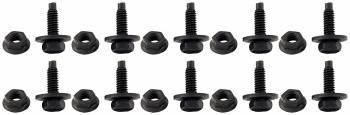 "Allstar Performance - Allstar Performance Body Bolt Kit, 3/4"" UHL, Black (10 Pack)"