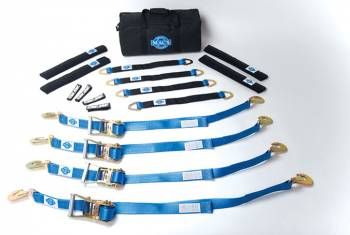 "Mac's Custom Tie-Downs - Mac's Pro Pack with 40"" Through-the-Wheel Straps (8 Foot) and Direct Hook Ratchets"