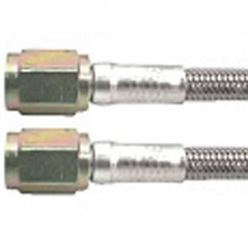 "Allstar Performance - Allstar Performance 15"" #3 Braided Stainless Steel Line w/ -3 Straight Ends (5 Pack)"