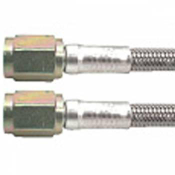 "Allstar Performance - Allstar Performance 6"" #3 Braided Stainless Steel Line w/ -3 Straight Ends"