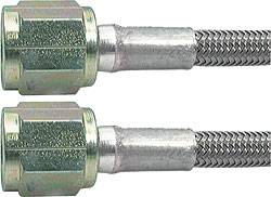"Allstar Performance - Allstar Performance 15"" #3 Braided Stainless Steel Line w/ -4 Straight Ends"
