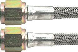 "Allstar Performance - Allstar Performance 18"" -4 Braided Stainless Steel Line w/ -4 Straight Ends (5 Pack)"