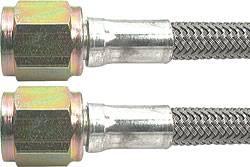 "Allstar Performance - Allstar Performance 60"" #4 Braided Stainless Steel Line w/ -4AN Straight Ends"