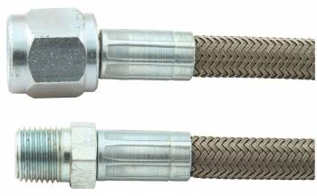 "Allstar Performance - Allstar Performance 24"" -4 Braided Stainless Steel Line w/ -4 Straight End / 1/8"" NPT"