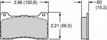Wilwood Engineering - Wilwood Polymatrix BP-20 Compound Brake Pads - Fits Billet Narrow Dynalite, Cast Narrow Dynalite, Dynapro Radial Mount, Forged Narrow Dynalite, Narrow Dynapro Lug Mount -7816